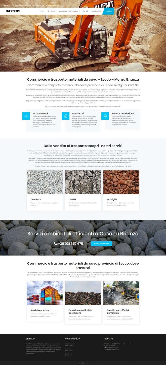 Inerti Srl – Commercio e trasporto materiali da cava – Lecco – Monza Brianza