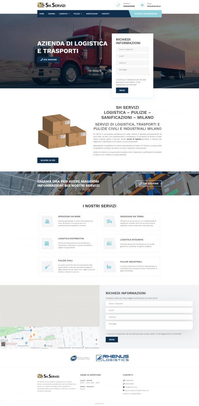 SH Servizi – Logistica – Pulizie – Sanificazioni – Milano