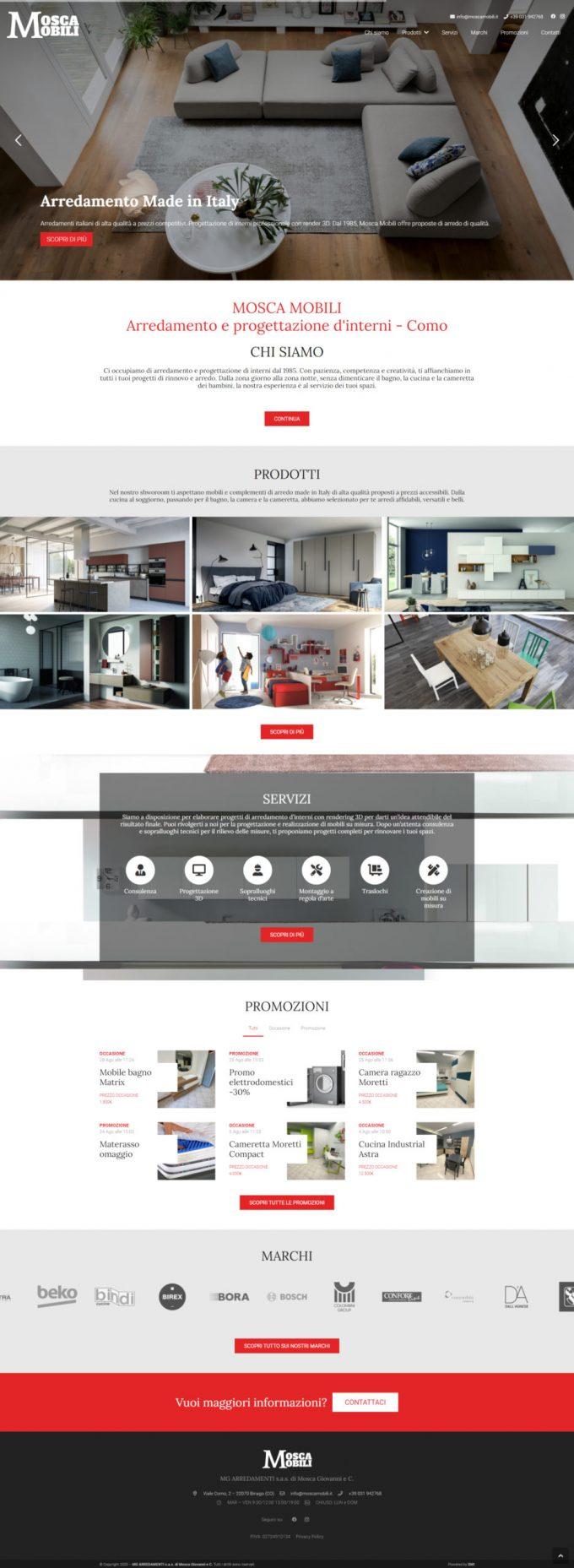 Mosca Mobili – Arredamento e progettazione d'interni Como
