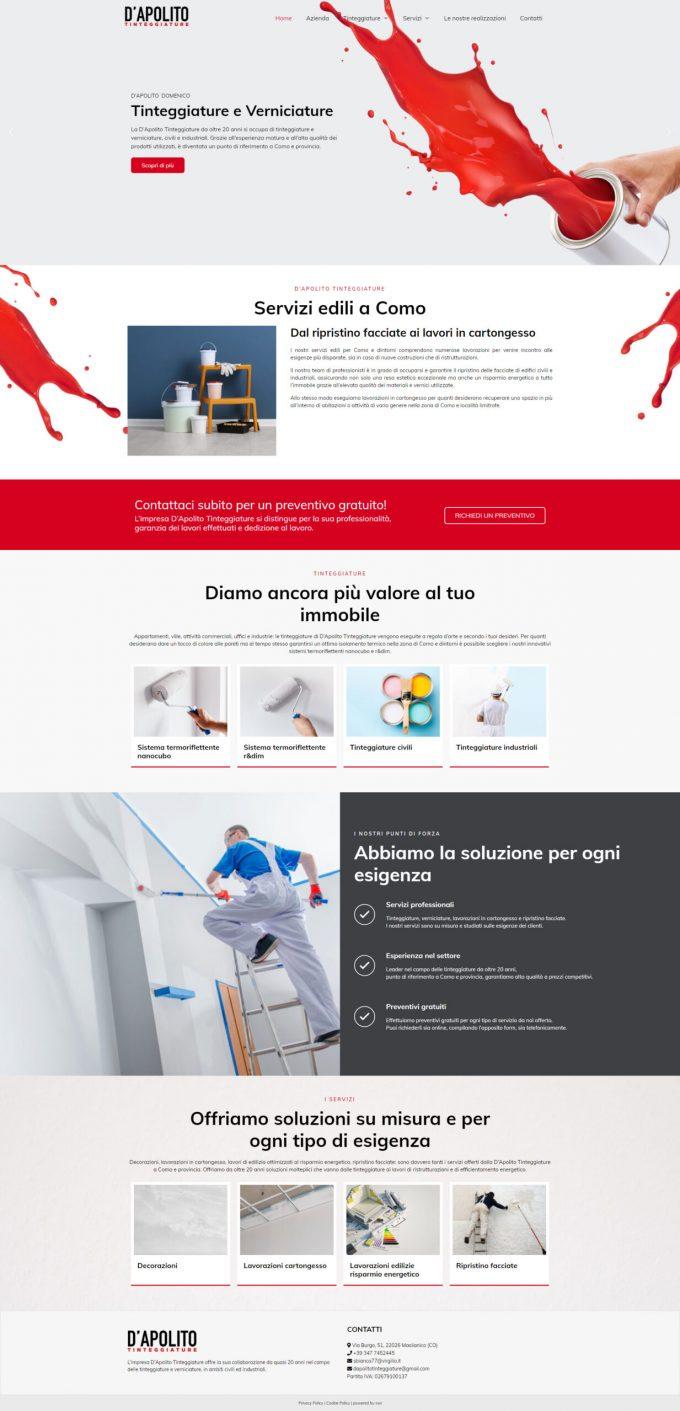 D'Apolito Tinteggiature – Tinteggiature e servizi edili Como