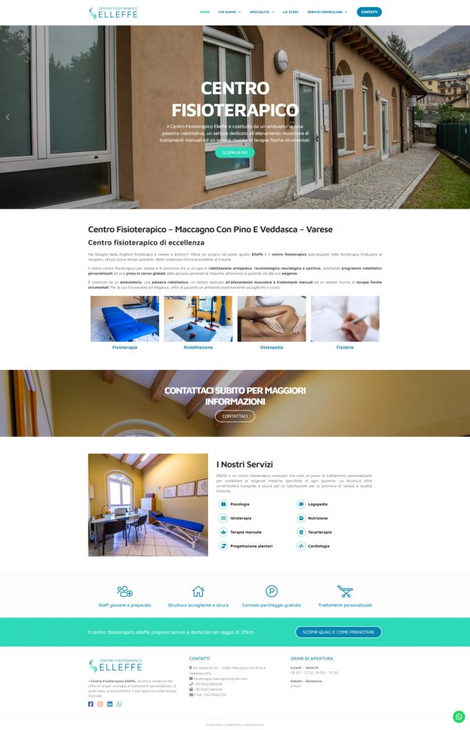 Centro Fisioterapico Elleffe – Varese