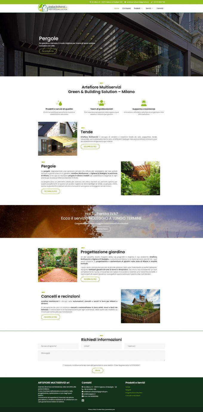 Artefiore Multiservizi – Green & Building Solution – Milano